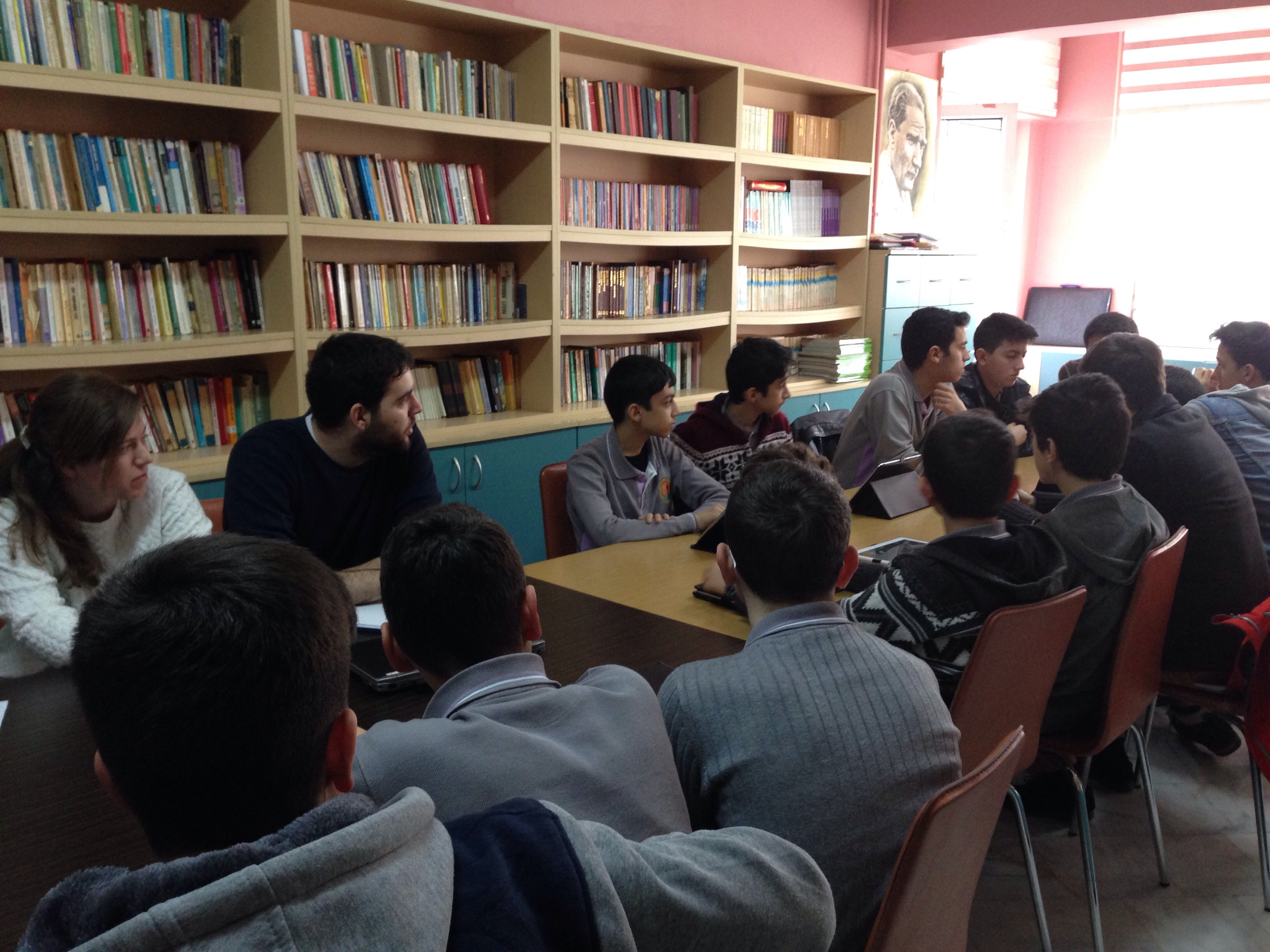workshop with Huseyin Kalkavan Anadolu Medicine High School